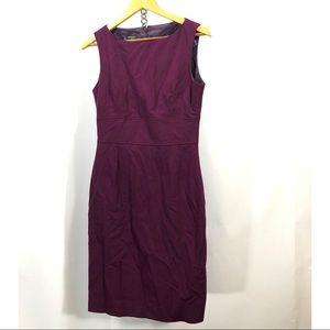 Hobbs purple wool sleeveless dress size 10